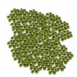 16SS -OLIVINE -OLIVINE RHINESTONE FLATBACK HOT FIX 1440 PCS. (10 GROSS)
