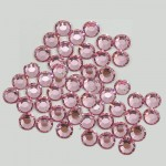 20SS -LIGHT ROSE -LIGHT ROSE RHINESTONE FLATBACK HOT FIX 1440 PCS. (10 GROSS)