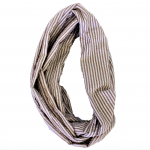 6054 - BROWN SEERSUCKER INFINITY SCARF