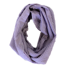 6054 - PURPLE SEERSUCKER INFINITY SCARF