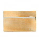 32718 - ORANGE SEERSUCKER WALLET BAG/ COSMETIC BAG