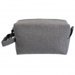 10006 - GREY SQUARE COSMETIC POUCH