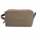 10006 - LIGHT BROWN SQUARE COSMETIC POUCH