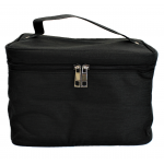10007 - BLACK SQUARE COSMETIC BAG