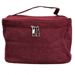 10007 - BURGUNDY SQUARE COSMETIC BAG