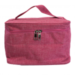10007 - HOT PINK SQUARE COSMETIC BAG