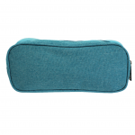 10008 - AQUA SMALL DOUBLE ZIPPER COSMETIC BAG