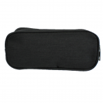 10008 - BLACK SMALL DOUBLE ZIPPER COSMETIC BAG