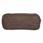 10008 - BROWN SMALL DOUBLE ZIPPER COSMETIC BAG