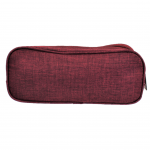 10008 - BURGUNDY SMALL DOUBLE ZIPPER COSMETIC BAG