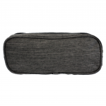 10008 - GREY SMALL DOUBLE ZIPPER COSMETIC BAG