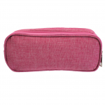10008 - HOT PINK SMALL DOUBLE ZIPPER COSMETIC BAG