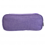 10008 - PURPLE SMALL DOUBLE ZIPPER COSMETIC BAG