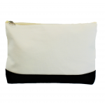 10009- BLACK AND WHITE COSMETIC POUCH