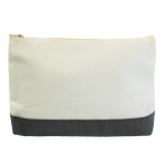 10009- GREY AND WHITE COSMETIC POUCH