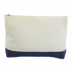 10009- NAVY AND WHITE COSMETIC POUCH