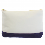 10009- PURPLE AND WHITE COSMETIC POUCH