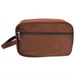 10011 - BROWN CANVAS DOPP BAG
