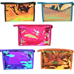 9171- COLORS -10 PIECE HOLOGRAPHIC COSMETIC BAG (5 COLORS)