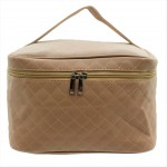 9269 - BEIGE SOLID COSMETIC BAG