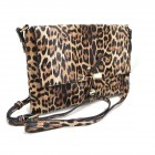 029NSK-BROWN LEOPARD VEGAN LEATHER CROSSBODY BAG