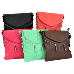 9034 - 5 PIECE PU LEATHER CROSS BODY/ SHOULDER BAG (5 COLORS)