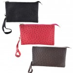 9038 - 3 PIECE OSTRICH LONG STRAP CROSS BODY BAG (3 COLORS)