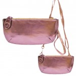 9043 - COPPER PU LEATHER WRISTLETS / CROSS BODY BAG