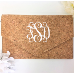 9162 - CORK MATERIAL CLUTCH BAG
