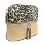 HY5245-CREAM LEOPARD VEGAN LEATHER CROSSBODY BAG