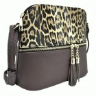 HY5245-GRAY LEOPARD VEGAN LEATHER CROSSBODY BAG