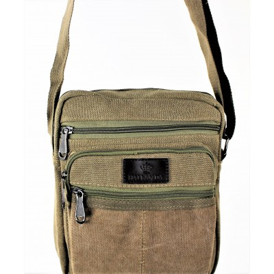 9254-TAUPE SHOULDER MESSENGER BAG