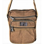 9254-BROWN SHOULDER MESSENGER BAG