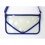 9167 -ROYAL BLUE LINING TRANSPARENT CLUTCH BAG