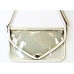 9167 -WHITE LINING TRANSPARENT CLUTCH BAG