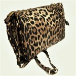 LE021-BROWN LEOPARD VEGAN LEATHER CROSSBODY BAG