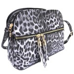 LE050-BLACK LEOPARD VEGAN LEATHER CROSSBODY BAG