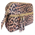 LE050-TAN LEOPARD VEGAN LEATHER CROSSBODY BAG