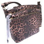 LE059-BROWN LEOPARD VEGAN LEATHER CROSSBODY BAG