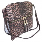 LE062-BROWN LEOPARD VEGAN LEATHER CROSSBODY BAG