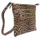 LE093-BROWN LEOPARD VEGAN LEATHER CROSSBODY BAG