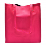 181298 - HOT PINK LEATHER SHOPPING BAG