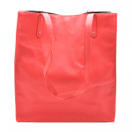 181303 - CORAL LEATHER SHOPPING BAG