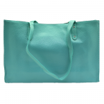 32594- MINT LEATHER SHOPPING BAG