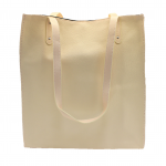 32591 - OFF WHITE LEATHER SHOPPING BAG