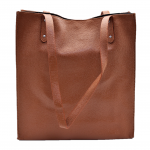 32592 - BROWN LEATHER SHOPPING BAG