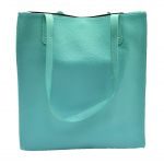 32670- MINT DOUBLE HANDLE LEATHER TOTE BAG