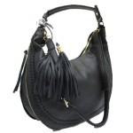 5851-BLACK VEGAN LEATHER PURSE