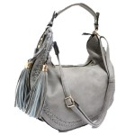 5851-GREY VEGAN LEATHER PURSE
