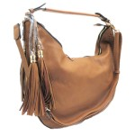 5851-TAN VEGAN LEATHER PURSE